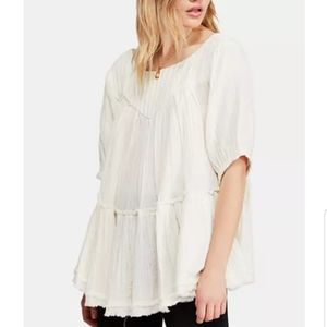 FREE PEOPLE Mystery Land Tunic in Ivory